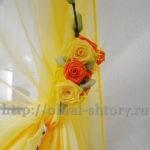 декоративные цветы для подхватов штор