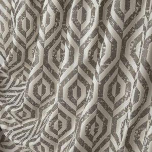 Портьерная ткань бархат коричневый с рисунком