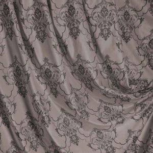 Портьерная ткань бархат коричневый с узором